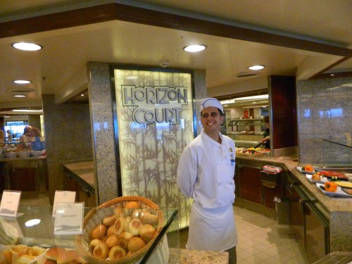 Horizon Court on Deck 16, friendly service and endless choices for casual dining