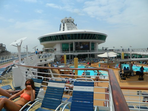 Navigator of the Seas:  Viking Crown Lounge overlooking Pool Deck