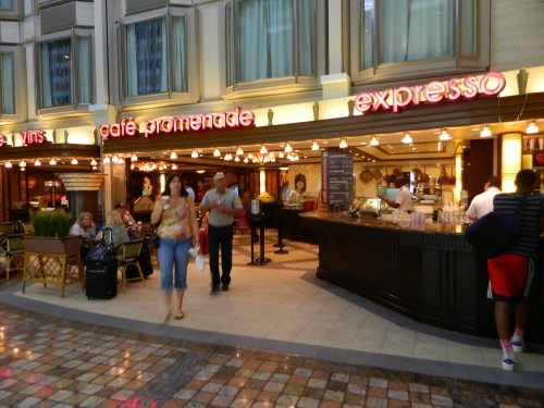 Navigator of the Seas:  Cafe Promenade