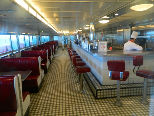 Navigator of the Seas:  Johnny Rockets hamburger diner