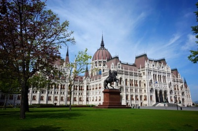 Budpest's famed Parliment building with Scenic Cruises
