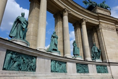 Heros' Square in Budapest with Scenic Cruises