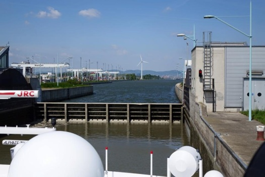 Danube River lock with Scenic Cruises