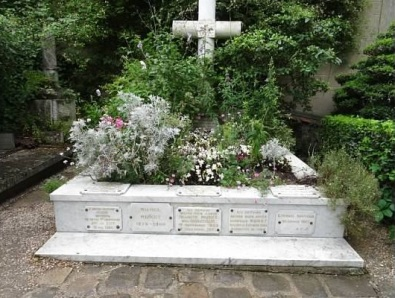 Monet's grave in Giverny, France
