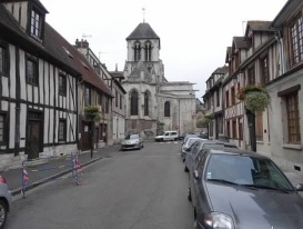 Vernon, France on a quiet Sunday morning