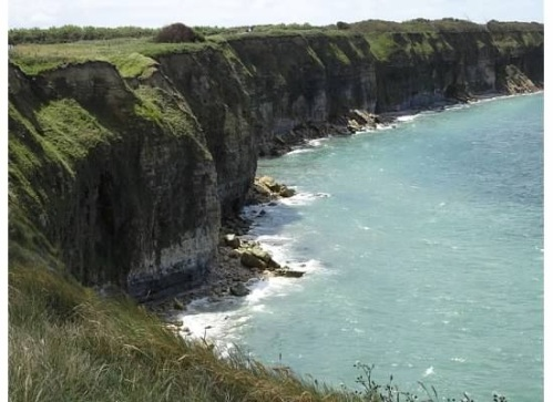 The stunning coastline in the Normandy region