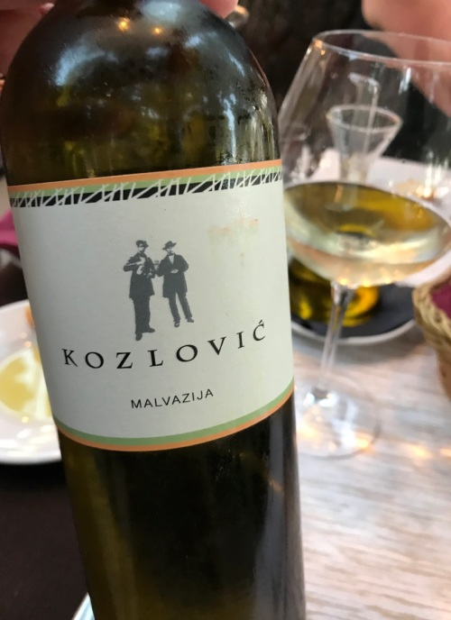 One of many featured Croatian white wines
