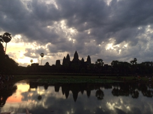 CE Share Mary J Sunrise at the Angkor temples