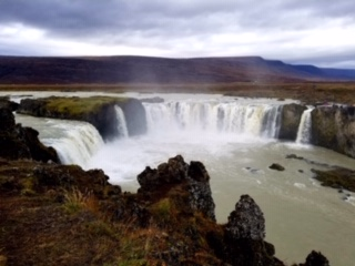 CE SHare Susan B 10 Godafoss Waterfall outside Akureyri