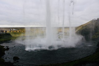 CE SHare Susan B 19 Seljalandsfoss Waterfalls, looking from behind, South Coast