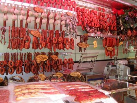 Meatmarket in Rtoenberg, Germany