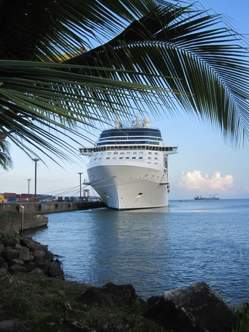 Docked in Puerto Limon, Costa Rica