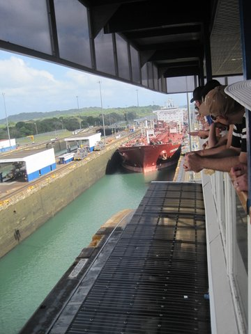 Observation deck at Panama Canal