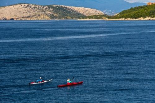 CE Share Susan B Croatia 32 Adriatic Sea with bridge to KRK in distance