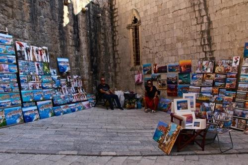 CE Share Susan B Croatia 46 Dubrovnik - artist displays throughout